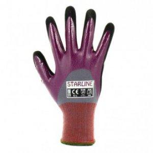 Starline 151600 Yağ ve Islak Ortam (Yarım Kaplı) Nitril Eldiven